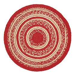 Cunningham Red Braided Tablemat, 13 inch