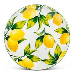 Lemon Tree Bone China Plates (Set of 4)