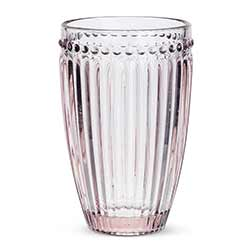 Pink Dot & Panel Highball Glasses (Set of 6)