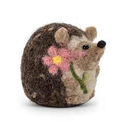 Felt Sitting Hedgehog Figurine