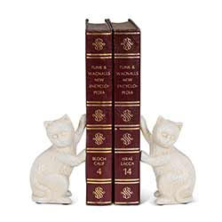 Pushing Cat Book Ends (Pair of 2)
