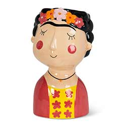 Lady with Eyebrows Large Vase