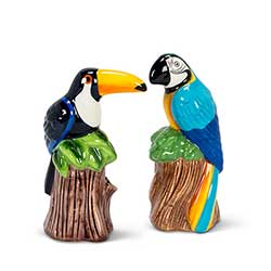 Toucan & Parrot Salt & Pepper Shakers