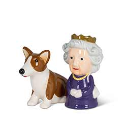 Queen and Corgi Salt & Pepper Shakers