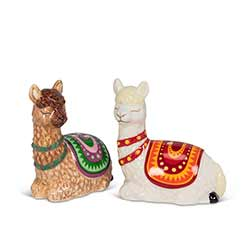 Resting Llamas Salt & Pepper Shakers