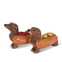Dachshunds in Hot Dogs Salt & Pepper