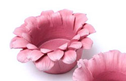 Pink Flower Head Tealight