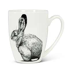 Pen & Ink Rabbit Bone China Mugs (Set of 6)