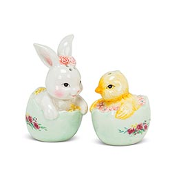 Chick & Rabbit Salt & Pepper Shaker Set