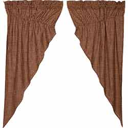 Patriotic Patch Plaid Prairie Curtain (63 inch)