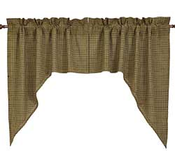 Tea Cabin Green Plaid Swag (36 inch)