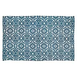 Francesca Deep Teal Rug - 3 x 5 foot