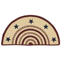 Potomac Braided Rug with Stars - Half Circle