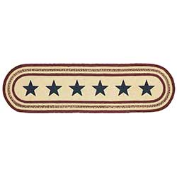 Potomac Braided Table Runner with Stars, 48 inch