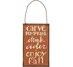 Carve Pumpkins Sign Ornament