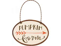 Pumpkin Farm Sign Ornament