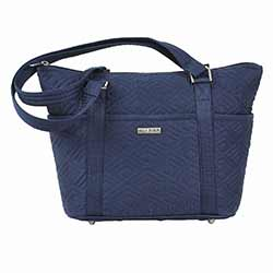 Navy Solid Shopper