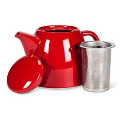 Red Diner Teapot