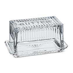 Glass Covered Butter Dish - Large