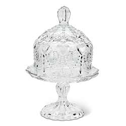 Mini Glass Covered Pedestal Plate
