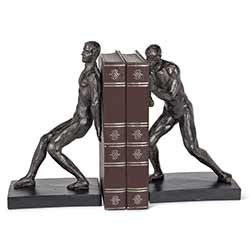 Pushing Men Book Ends (Pair of 2)
