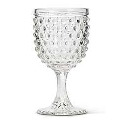 Hobnail Glass Goblets (Set of 6)