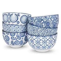 Indigo Deep Bowls (Set of 6)