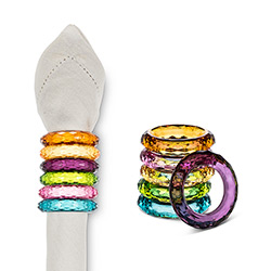 Rainbow Napkin Rings (Set of 12)