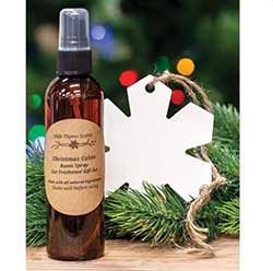 Christmas Cabin Car Freshener & Room Spray Set