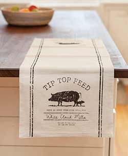 Tip Top Pig 36 inch Table Runner