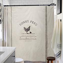 Sunny Feed Chicken Shower Curtain