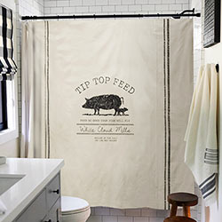 Tip Top Pig Feed Shower Curtain