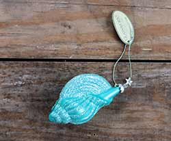 Blue Seashell Ornament