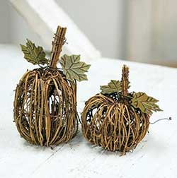 Grapevine Pumpkins (Set of 2)
