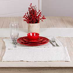 Nowell Creme Placemats (Set of 6)