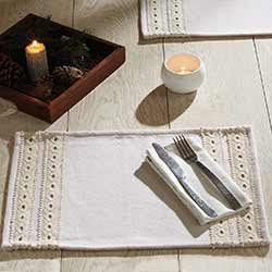 Margot Lace and Felt Placemats (Set of 6)