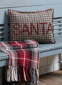 Weston Button Santa Decorative Pillow Cover