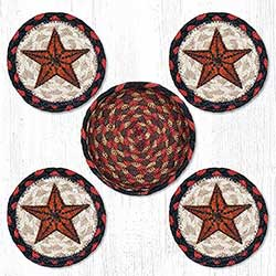 Barn Star Braided Coaster Set