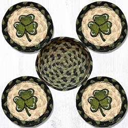 Shamrock Braided Coaster Set