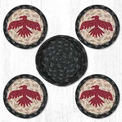 Thunderbird Braided Coaster Set