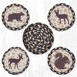 Wildlife Braided Coaster Set