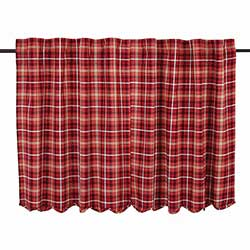 Braxton Red Plaid Cafe Curtains (36 inch)