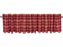 VHC Brands Braxton Red Plaid Valance (90 inch)