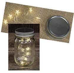 Mason Jar Lid with Star Lights