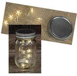 Mason Jar Lid with Star Lights