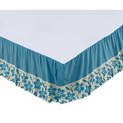 Briar Azure Queen Bed Skirt