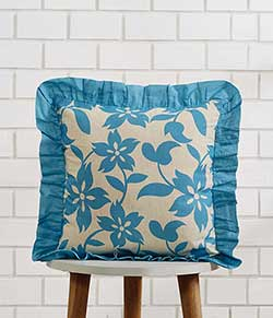 Briar Azure Throw Pillow Cover