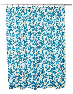 Briar Azure Shower Curtain