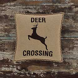 Deer Crossing Decorative Pillow (with Down Fill)