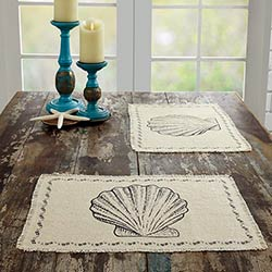 Sandy Creme Burlap Placemats (Set of 6)